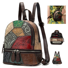 Multi Colour Genuine Italian Leather Shoulder Backpack Handbag Satchel Bag