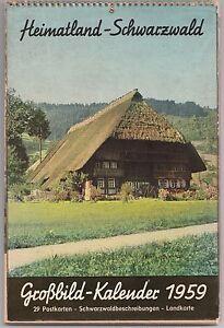 Calendario 1959 Heimatland-Schwarzwald Grossbild-Kalendar   B3034
