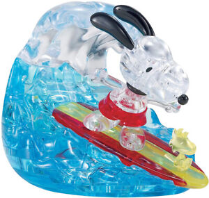 Bepuzzled Snoopy Surfing 41pcs 3D Crystal Puzzle 31093 (12+, Standard)