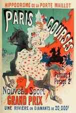 A4 photo CHERET, Jules les affiches illustrees 1896, paris cours imprimé Poster