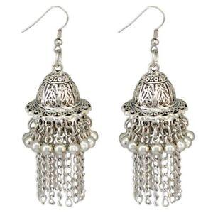 Jingle Bell Jhumka Indian Unique Ethnic Bollywood Dangle Earrings Jewelry