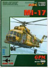Card Model Kit – Mi-17 Helicopter