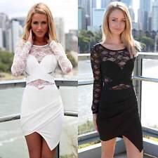 Summer Women's Long Sleeve Evening Party Cocktail Short Mini Dress AU Size 4-16