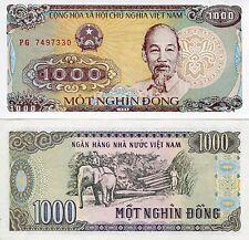 1988 1000 Dong Vietnam Ho Chi Minh Communist UNC Mint New Elephant Logging
