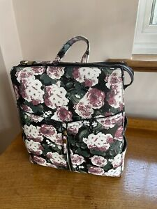 New Look Floral Backpack (Black, Green, Pink, White)