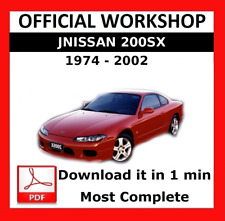 >> OFFICIAL WORKSHOP Manual Service Repair Nissan 200SX 1972 - 2002