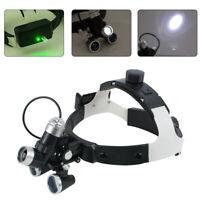 5W LED 3.5X 420mm Medical Surgical Dental Binocular Loupes Glasses Magnifier