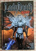 LADY DEATH RULES! VOL #2 *SIGNED* HARDCOVER Collects Chapters #4-7 Coffin Comics