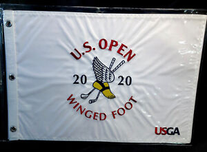 2020 US Open, Winged Foot, Official Embroidered Pin Flag. New in X Heavy Zip Bag