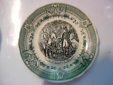 sarreguemines assiette Napoleon plate old french 1860 faience,autriche