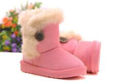 Une Paire de Boots Bottes de Neige Chaude Suédé Bébé Garçon Fille Enfant 1~6 Ans