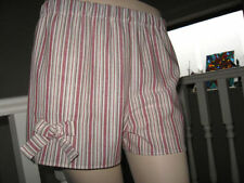 Linen Casual Striped Shorts for Women