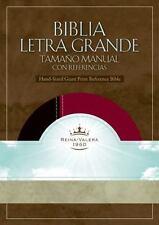 RVR 1960 Biblia Letra Grande Tamano Manual con Referencia, negro/borgona simil p