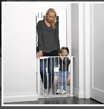 Childcare Auto Assisted Stair Safety Gate White Swing Close Security