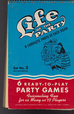 Life of the Party Book Set 2 Ready-to-Play Party Games 1950s
