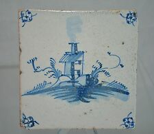 "Delft Tile Dutch ""Country Home"" with perimeter Floral Pattern"