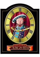 KINGS HEAD Pub Sign WALL CLOCK for your Home Bar, Man Cave or Pub Shed