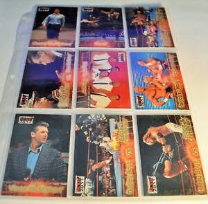 Wrestling Cards Lot of 9 in Plastic Page Holder Fleer 2001 War Zone