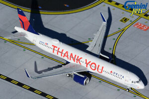 """Delta Air Lines A321 """"Thank You""""  Gemini Jets GJDAL1927 Scale 1:400 IN STOCK"""