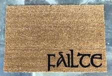 FAILTE Irish Celtic Door Mat Custom Hand Painted Cead Mile Home Decor Porch