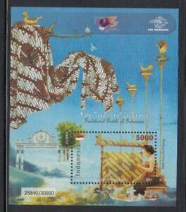 INDONESIA Tari Topeng Textiles MNH souvenir sheet
