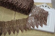 1 Yard, Crochet Embroidered Lace Edge Trim Wedding Sewing Applique Ribbon HB49