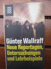 Günter Wallraff Neue Reportagen Untersuchungen Lehrbeispiele undercover MfS APO