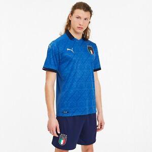 EURO 2020 Italy Home Jersey Soccer Football Fan T-Shirt Puma 2021 Shirt Italia