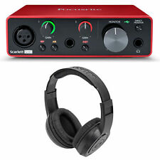 Focusrite SCARLETT SOLO 3rd Gen 192kHz USB Audio Interface w/ Samson Headphones