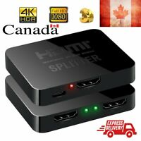 Hot 4K HDMI Splitter 1 in 2 out HDCP 1.4 TV, computer, projectors, PS3, PS4 Xbox