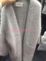 Winter Women MINK cashmere Fur Cardigan Sweater Coat Outwear Long Outwear S-XL