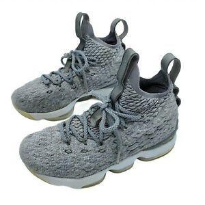 Nike LeBron XV 15 GS City Edition High Top Wolf Grey Athletic Shoes Sz 5Y