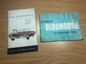 1963 Oldsmobile Owners Manual & Accessories Guide OEM