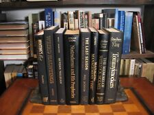 8 Black Gold Lettering-Hardcover Books-Decor-Art-Props-Stage-Farmhouse-Library
