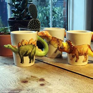 Dinosaur Shaped 3D Novelty Mug Tyrannosaurus Rex, Stegosaurus, Triceratops Gift