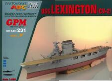 USS Lexington aircraft carrier paper card model 1:200 huge 135cm