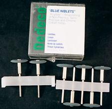 Dental Bits or Use in Dremel - 7 Blue Niblets for Polishing Chrome Cobalt Metals