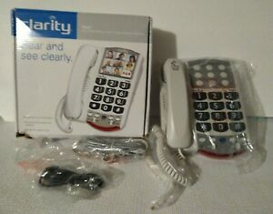 Clarity P300  Amplified Corded Photo Phone Hear and See Clearly Picture Dial