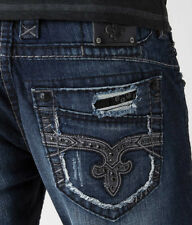 8602372eb0 Rock Revival Men s Jeans Rp2026a202 ECE A202 Alt Straight Cut Regular Waist  34