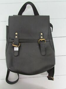 Gringo Fairtrade Black Recycled Leather Rucksack