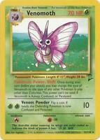 1x Venomoth - 31/130 - Rare - Unlimited Edition Base Set 2 Pokemon Near Mint