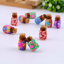 10 pcs Mini Glass Polymer Clay Bottles Containers Vials With Corks UL