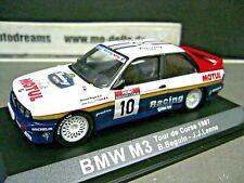 BMW M3 E30 Rallye 19897 Rallye Tour de Corse #10 Beguin Motul IXO Altaya 1:43