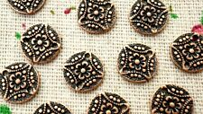 Flower connector round copper 10 charms jewellery supplies C1254