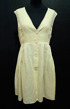 SPORTMAX Abito Vestito Donna Lino Flax Woman Dress Sz.L - 46