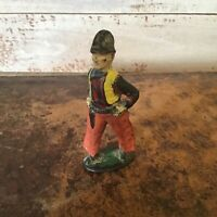 Vintage Barclay Manoil toy lead cowboy