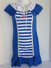 WOMEN SAILOR COSTUME FITTED DRESS SIZE LARGE  DREAMGIRL