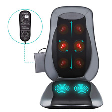 Naipo Shiatsu Back Massager Massage Chair Seat Cushion with Heat and Vibration