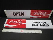 ORIGINAL Enjoy Coca~Cola SLIDE GLASS DOOR/WINDOW OPEN CLOSE SIGN PLASTIC