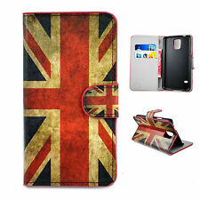 Union Jack Leather Print Wallet Flip Fold Cover Case For Samsung Galaxy S5 i9600